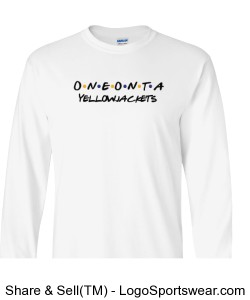 Oneonta Yellowjackets Long Sleeve T-Shirt- White Design Zoom