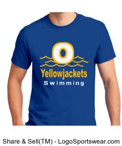 Yellowjackets Swimming Unisex Adult T-shirt- Royal Design Zoom
