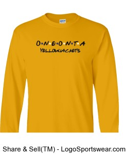 Oneonta Yellowjackets Long Sleeve T-Shirt- Gold Design Zoom